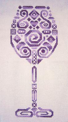 Tribal Wine Glass