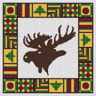 Country Quilt - Moose