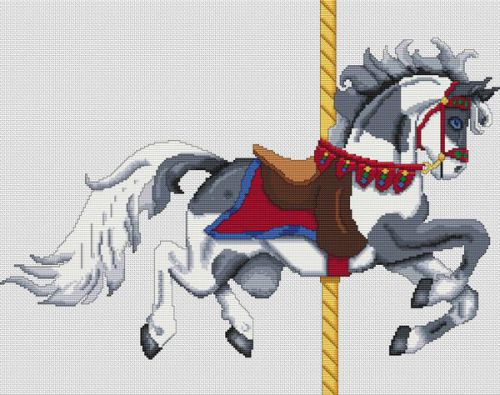 Grey Paint Carousel Horse PDF