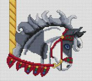 Grey Paint Carousel Horse Head PDF