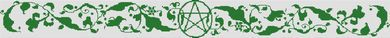 Pentacle Table Runner