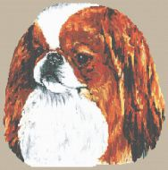Japanese Chin - Sable and White