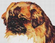 CROSS STITCH CHART FLORAL BUNTING STYLE CHARTS /& TIBETAN SPANIEL PET DOG CHART