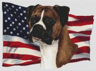 Patriotic Fawn Boxer