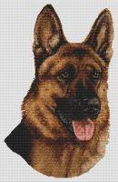 German Shepherd Smile